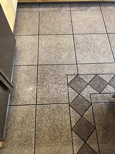 Dirty Tile and Grout Before Cleaning