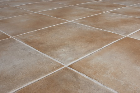 Clean Tile Floor with Clean White Grout