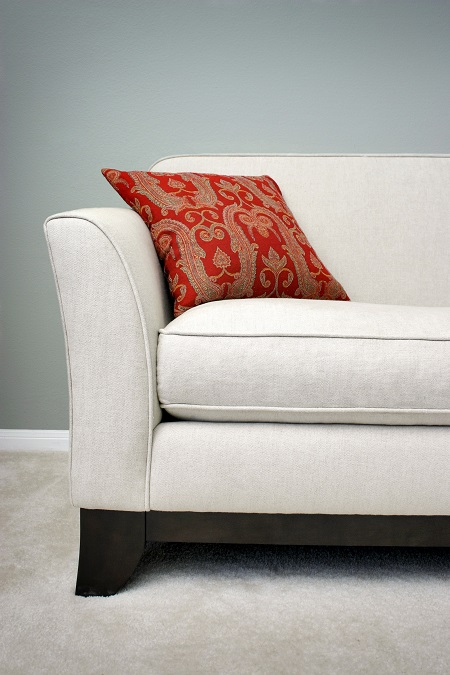 Clean White Sofa After Fabric Protection